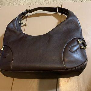Burberry brown leather handbag 16 x 7